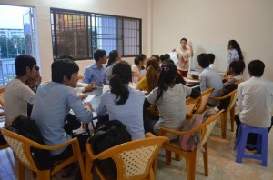 One of the ways we engage with locals is through conducting English classes, like this one