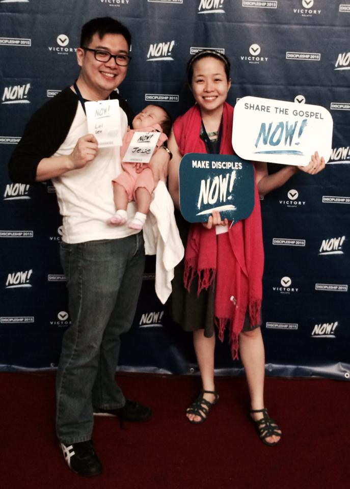 These parents from Victory Malate are excited to share the gospel to the next generation!