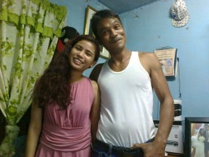 With her dad