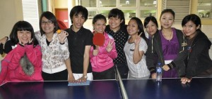 Lyn and her teammates engaged Macanese in different sporting activities