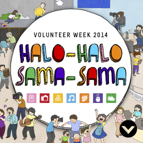 Volunteer Week 2014: Halo-Halo, Sama-Sama