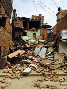 Homes and buildings lie damaged in Kathmandu, Nepal, as a result of last Saturday's 7.8 earthquake.