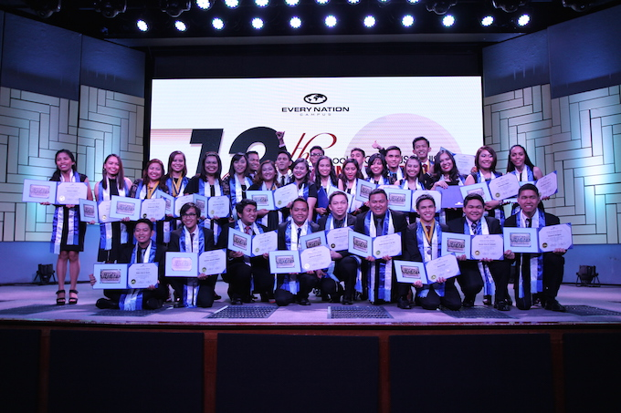 The graduates of the 13th batch of the School of Campus Ministry