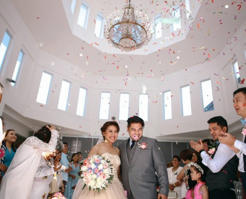 Ken (left) and Choi were married in December 2015, surrounded by family and friends