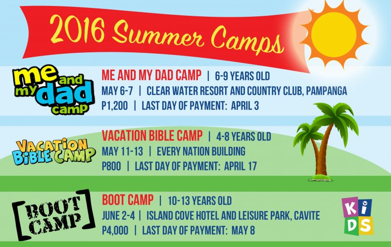 Youth Camps For Summer 2016