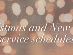 Christmas and New Year Service Schedules 2016