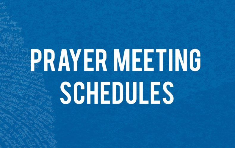 In Christ: 2018 Prayer Meeting Schedules